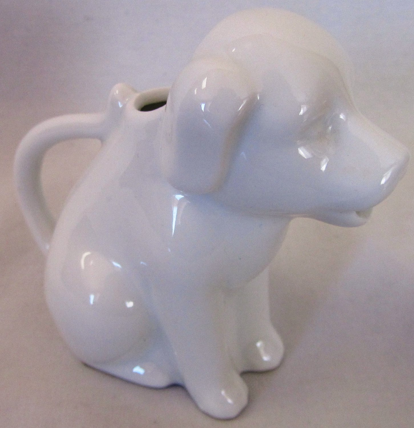 VINTAGE TWO'S COMPANY DOG PITCHER SMALL WHITE PORCELAIN CREAMER