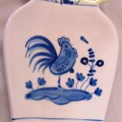 BOSTON WAREHOUSE TRADING BLUE ROOSTER PORCELAIN SPOON REST LIKE DELFT
