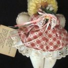 CHARMING CLOTH AND WOOD ANGEL FOR MOM WITH A POEM