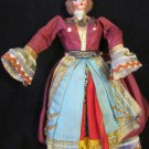 VINTAGE ANTIQUE CLOTH & PLASTIC DOLL FIGURINE BALKANS TURKISH OUTFIT