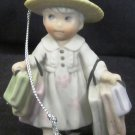 CHARMING BAHNER STUDIOS PORCELAIN CHRISTMAS ORNAMENT FIGURINE GIRL LOVES TO SHOP