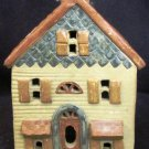 ART POTTERY CHRISTMAS VILLAGE LIGHT UP HOUSE ARTIST SIGNED MIDENE
