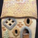 CHRISTMAS ART POTTERY VILLAGE LIGHT UP HOUSE ARTIST SIGNED MIDENE