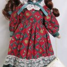 CHARMING PORCELAIN SOFT EXPESSIONS BISQUE DOLL DRESSED AND READY FOR CHRISTMAS