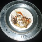 GREAT AMERICAN REVOLUTION CANTON PVK PEWTER PLATE BATTLE BANKER'S HILL TRUMBULL