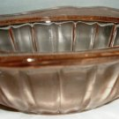 VINTAGE PINK INDIANA GLASS RECOLLECTION SQUARE SOUP CEREAL BOWL DOGWOOD