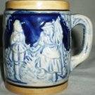 VINTAGE MINIATURE DOLLHOUSE HANDPAINTED CERAMIC BEER STEIN SET OF 2 COLLECTIBLE