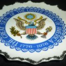 VINTAGE PORCELAIN SEAL OF UNITED STATES OF AMERICA PLATE LEGO JAPAN BICENTENNIAL
