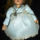 CHARMING MARIE OSMOND SMALL DOLL 2004 GIRL IN BLUE DRESS NECKLACE