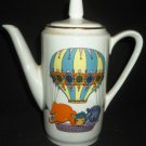VINTAGE KAHLA GERMANY PORCELAIN COFFEE TEA POT CHILD'S CHINA CARTOON ANIMALS