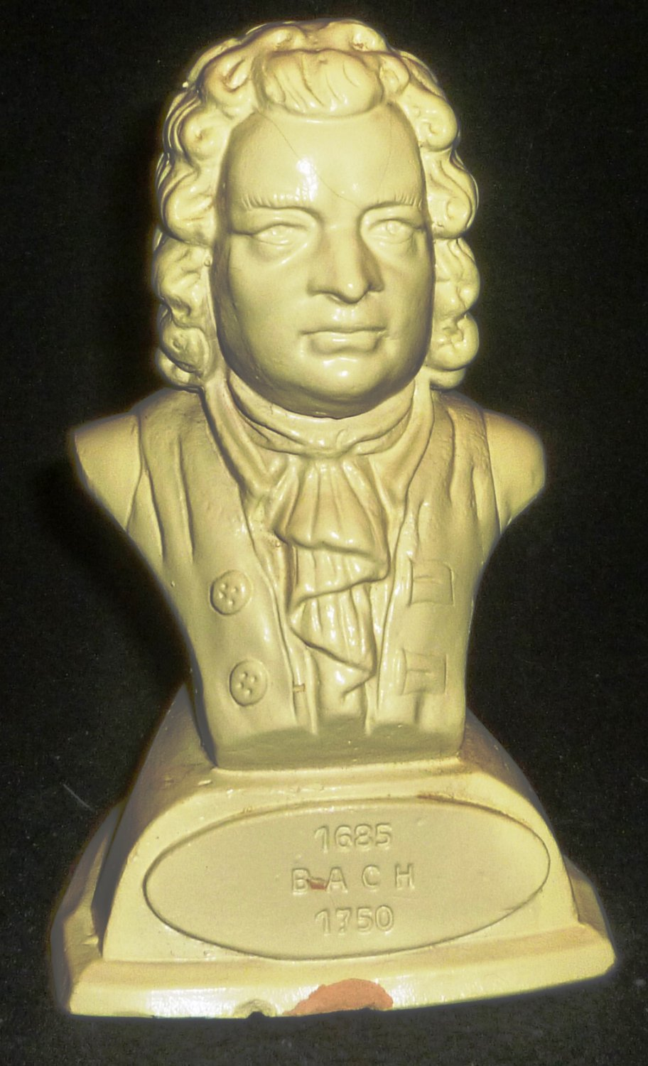 VINTAGE CLASSIC COMPOSER COLLECTION PLASTER BUST FIGURINE BACH 1685-1750