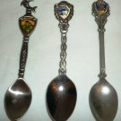 COLLECTIBLE SPOONS SET OF 3 MEMORABILIA BAHAMAS DOLPHIN