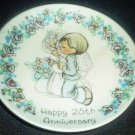 PRECIOUS MOMENTS COLLECTIBLE 25TH WEDDING ANNEVERSARY PLATE ENESCO JAPAN