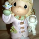 ENESCO PRECIOUS MOMENTS THE FUTURE IS IN OUR HANDS #730068 CHRISTMAS GIRL W/BIRD