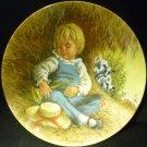 COLLECTABLE PORCELAIN PLATE MOTHER GOOSE SERIES JOHN MCCLELLAND 'LITTLE BOY BLUE