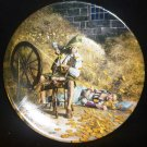 BAVARIAN CHINA COLLECTOR PLATE BROTHER'S GRIMM FOLKTAES 'RUMPELSTILTSKIN' NMB