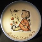 SHMIDT BROTHERS 1974 MOTHER'S DAY PLATE SISTER BERTA HUMMEL GERMANY BUMBLEBEE