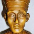 STUNNING VINTAGE NEFERTITY PHARAOH BUST FIGURINE FROM EGYPT