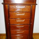 STANNING MULTI DOORS & DRAWERS WOODEN JEWELRY VANITY BOX GREAT GIFT MUST SEE