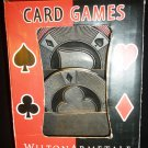 WILTON ARMETALE CARD GAME SET OF 4 COASTERS POKER RULES NMB GIFT A ORIG $50