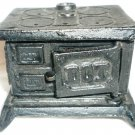 VINTAGE DOLLHOUSE CAST IRON DOT WOOD BURNING KITCHEN STOVE 'COOK WITH CASH' BANK