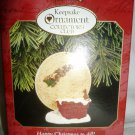 HALLMARK KEEPSAKE ORNAMENT COLLECTOR'S CLUB HAPPY CHRISTMAS TO ALL 1997 CLIP ON