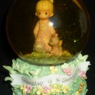 CHARMING ENESCO PM GLOBE MUSIC BOX 'IN THE GOOD OLD SUMMERTIME' FRIENDSHIP SUNNY