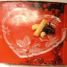 SAVOIR VIVRE CRYSTAL JAPAN FESTIVE BOUQUET HEART PLATTER NMB
