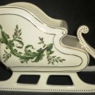 CHRISTMAS DECOR FTD PORCELLAIN SLED CENTERPIECE PLANTER CANDY BOWL