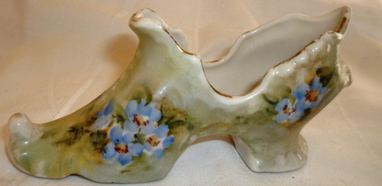 Antique Collectible Porcelain Victorian Shoe Handpainted