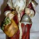 SANTA CLAUS SHOPPE ST.NICHOLAS CIRCA 1900 PORCELAIN FIGURINE W/BELLS 1984 ENESCO