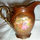 ANTIQUE WALDERSHOF BAVARIA GERMANY BROWN PORCELLAIN VICTORIAN CREAMER