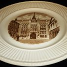 1941 SEPIA TRANSFER HISTORICAL PLATE WEDGWOOD OLD LONDON VIEWS GUILDHALL