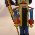 VINTAGE WOODEN HANDMADE GERMANY MINIATURE NUTCRAKER SWISS GUARD