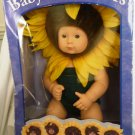 VINTAGE BABY SUNFLOWERS  BY ANNE GEDDES BEAUTIFUL VINYL DOLL NMB