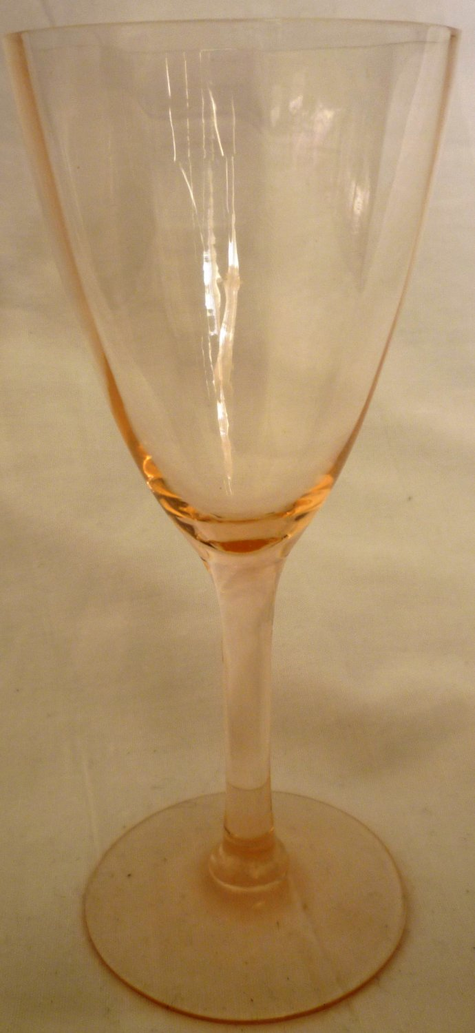 ANTIQUE PINK OPTICAL GLASS CORDIALS SHOT GLASSES BEAUTIFUL !MUST SEE! SET OF 2