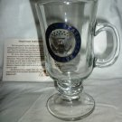 COLLECTIBLE UNITED STATES SENATE PEDESTAL CLEAR GLASS GOLD EMBOSSED MUG