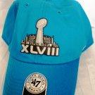 SUPER BOWL XLVIII BLUE NFL 47 BRAND HAT CAP ADJUSTABLE ONE SIZE FITS ALL