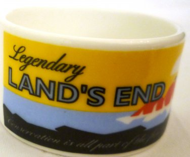 VINTAGE COLLECTIBLE ADVERTISING LAND'S END CROWN FINE BONE CHINA OPEN SALT