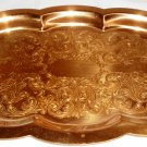 VINTAGE COPPERCRAFT GUILD INTRICATED EMBOSSED COPPER PLATE TRAY