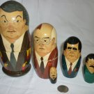 COLLECTIBLE NESTING DOLLS SET OF 5 USSR RUSSIA LIDERS ELCIN GORBACHEV BREZNEV...