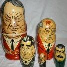NESTING DOLLS SET OF 5 USSR RUSSIA LIDERS ELCIN GORBACHEV BREZNEV STALIN LENIN