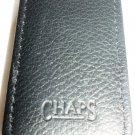 BLACK LLEATHER MONEY CLIP PAPER BILL HOLDER BY CHAPS WALLET