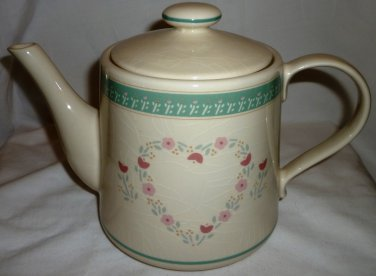 VINTAGE COLLECTIBLE PORCELAIN TEAPOT LOVE GROWS HERE CERTIFIED INC. JAPAN
