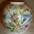 AYNSLEY ENGLAND FINE BONE CHINA WILD TUDOR SMALL BALL VASE HANDPAINTED FLOWERS