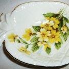 CHARMING VINTAGE BRINN'S BONE CHINA HANDPAINTED FLOWERS PINEAPPLE DISH