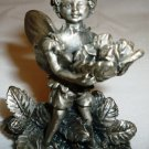 CHARMING PEWTER MINIATURE HARVEST MAGICAL PIXIE FIGURINE
