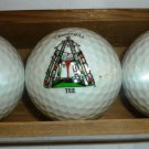 SPALDING UNIQUE EXPRESSIONS CHRISTMAS DECOR GOLF BALL SET OF 3 NMB