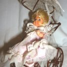 "CHARMING VINTAGE ROSEBUD 4"" MATELL DOLL IN A CARRIAGE STROLLER"