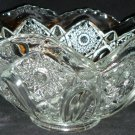 VINTAGE L.E.SMITH CUT GLASS FRUIT VASE BOWL STARS & BUTTONS DESIGN